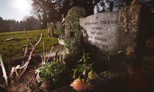 the grave of JRR Tolkien and his wife Edith in Wolvercote cemetery, Oxford.