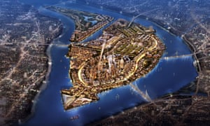 An illustration of the conceptual district masterplan, submitted to the Giza government by architectural firm RSP.