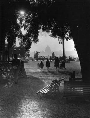 Pincio gardens, overlooking the city, 1970