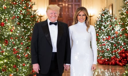 President Donald Trump and first lady Melania Trump's Christmas portrait.