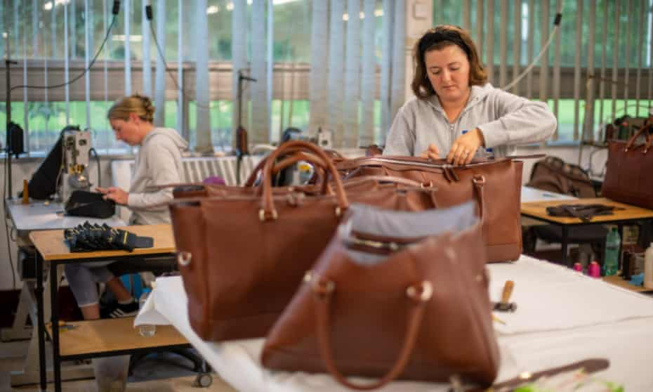Inside Pittards leather goods factory in Yeovil, Somerset