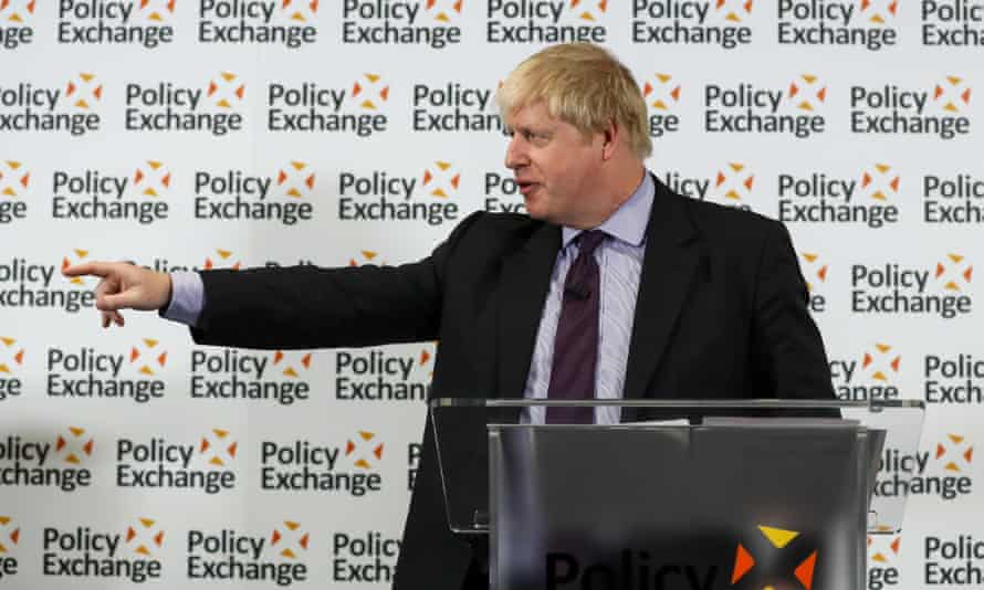 Boris Johnson speaking on Brexit at the Policy Exchange thinktank in London, February 2018