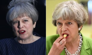 Theresa May calls a snap election on the steps of No 10 on 18 April … and six weeks later, having endured a rollercoaster campaign, samples cheese at the Royal Bath and West Show on 31 May.