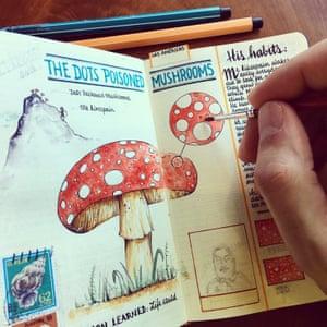 Illustrated notebooks by artist José Naranja