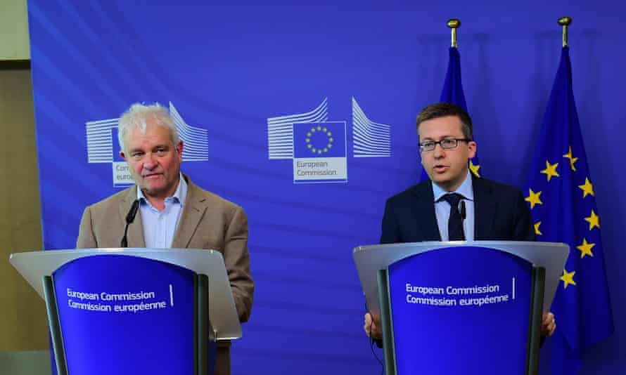 Paul Nurse, Nobel prize winer, above left, with European research, science and innovation commissioner Carlos Moedas in Brussels earlier in May. Nurse called Brexit a 'poor outcome for British science'.