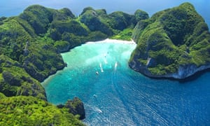 Maya Bay, made famous in Danny Boyle's The Beach.