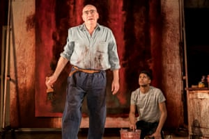 Alfred Molina, left, and Alfred Enoch as Mark Rothko and his assistant in Red.