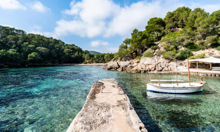 Cala Mastella beach, north-east Ibiza..