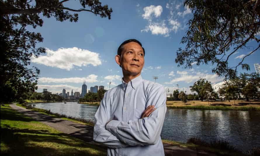Maj Gen Paween Pongsirin on the banks of the Yarra river in Melbourne.