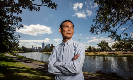 Maj Gen Paween Pongsirin on the banks of the Yarra river in Melbourne.