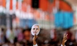 Campaigning for Narendra Modi in September 2013.