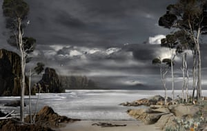 'Prospero's Island – North East' by Valerie Sparks won this year's Bowness Photography Prize. The digitally composed image 'explores the narrative arc of The Tempest from vengeance to forgiveness', the artist explained. 'The wild cliffs of Tasmania's south coast are brought together with the sublime stillness of the north and east coasts to explore the theme of displacement, which is central to both The Tempest and the turbulent history of Tasmania'.