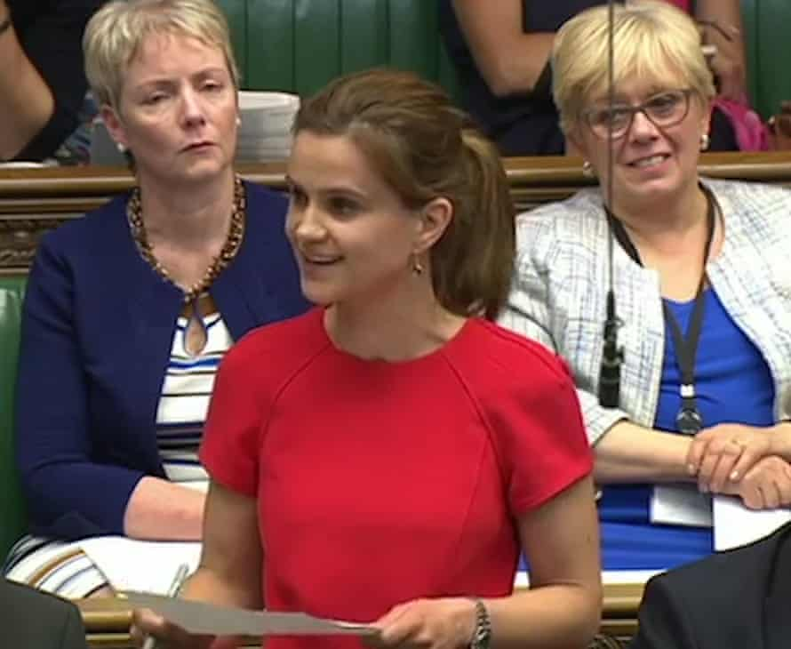 Labour MP Jo Cox making her maiden speech in the Commons in June 2015
