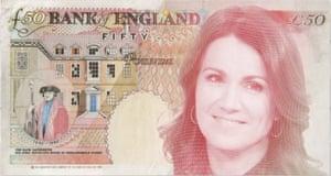The social media team at Good Morning Britain mocked up a note featuring Susanna Reid.