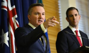 Shadow treasurer Chris Bowen and shadow minister for finance Jim Chalmers announce the Labor budget costings.