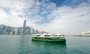 The historic Star Ferry crossing Hong Kong harbour.