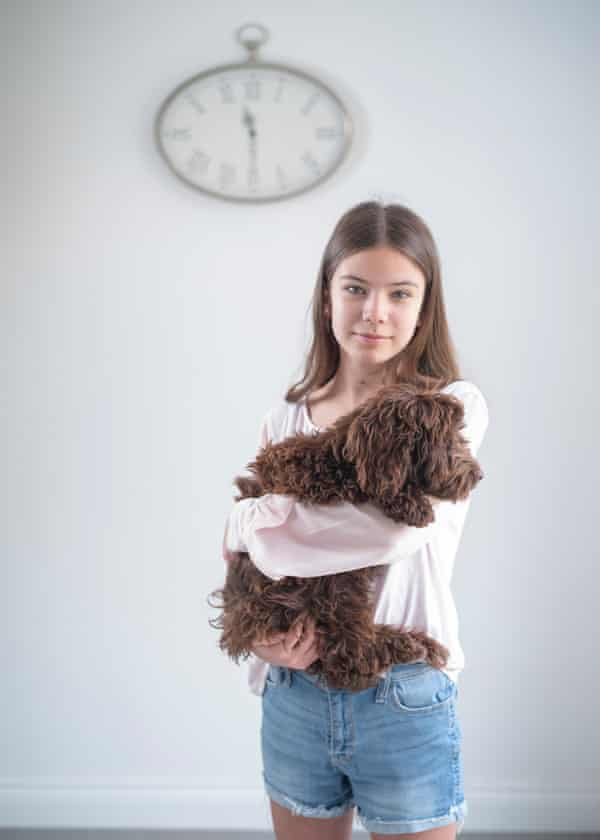 'I can't afford to get Covid again. I've been ill for 15 months' ... Emma and her dog, Luna.