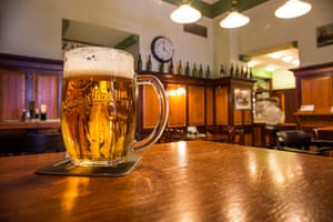 Pub U Salzmannu, in Plzen, from where the ancient lager beer known as Pilsner takes its name.