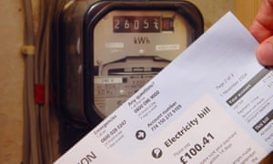 Energy bill and electricity meter