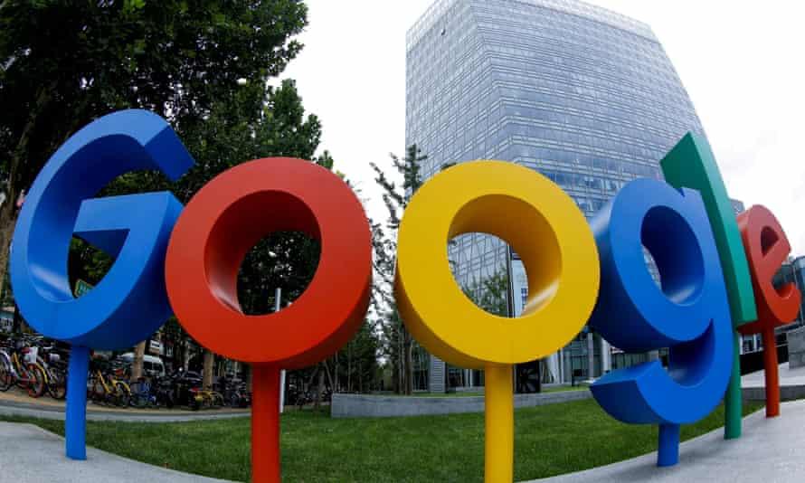 google's logo outside its bejing office