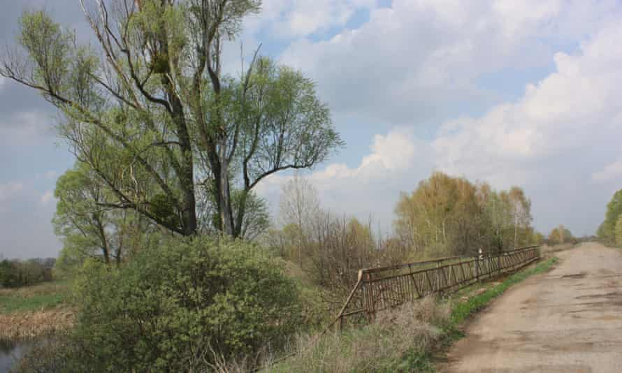 The bridge over the Braginka river, one of the 'referral spots' used to measure yearly radiation levels.