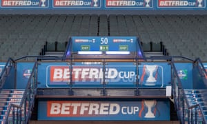 Betfred logos in stadium