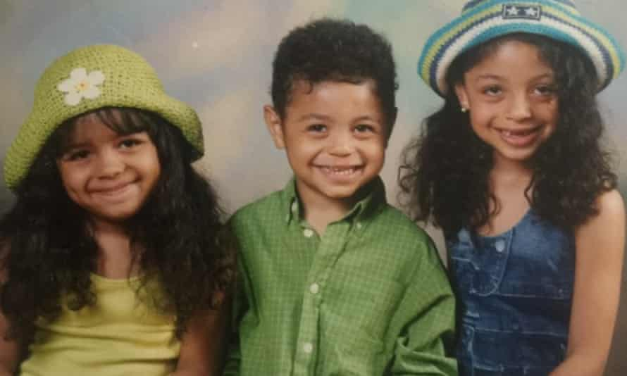 Micha Frazer-Carroll and siblings.