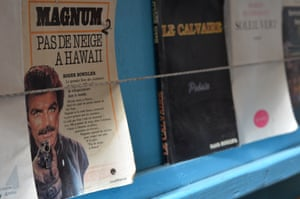 A Magnum PI comic book- for some a cult item - is buried in shelves at the shop.