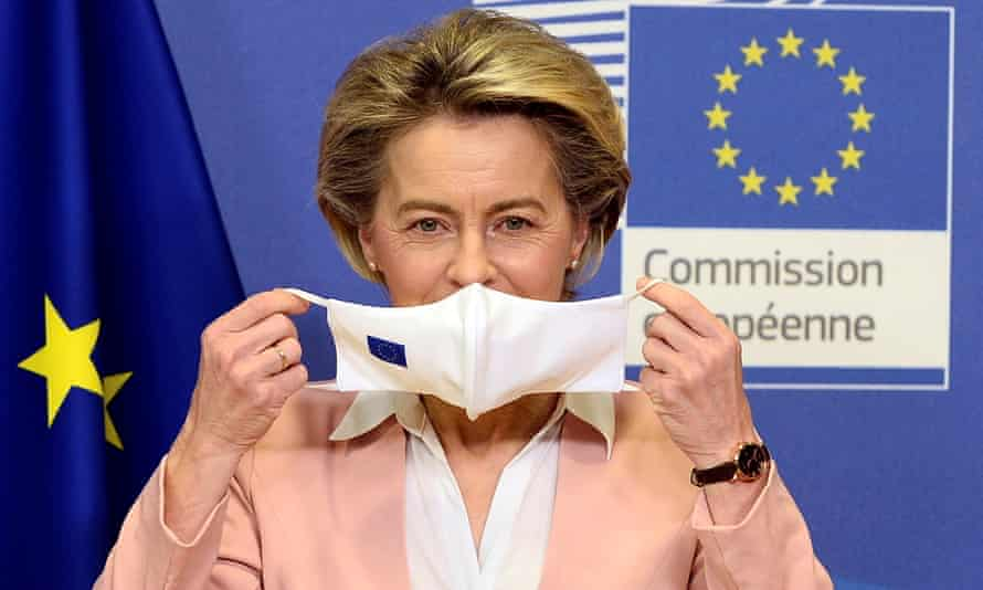Ursula von der Leyen, pictured last month, said: 'The commission and the member states agreed not to compromise with the safety and efficacy requirements linked to the authorisation of a vaccine.'