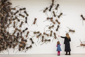 Artist Rafael Gomezbarros's 440 fibreglass ants, each 90cm long, take over part of the Saatchi Gallery for Pangaea: New Art From Africa and Latin America, opening on 2 April.