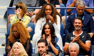 Watching the US Open alongside Venus Williams, Oracene Price and Meghan, Duchess of Sussex, September 2019.