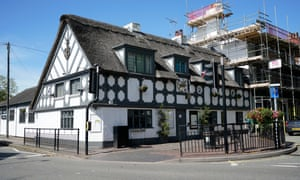 The crown and anchor in stone, Staffordshire