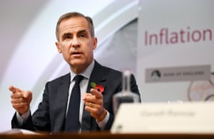Bank of England Governor Mark Carney at today's press conference.