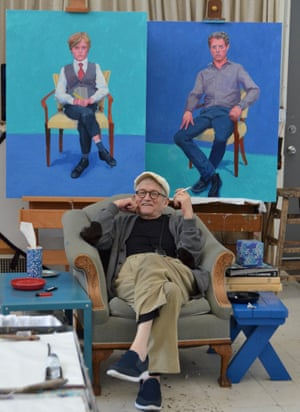 Is david hockney right to say painting is an old mans art art david hockney with recently completed portraits in los angeles march 2016 altavistaventures Image collections