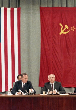 Gorbachev and George Bush, Moscow, 1991.