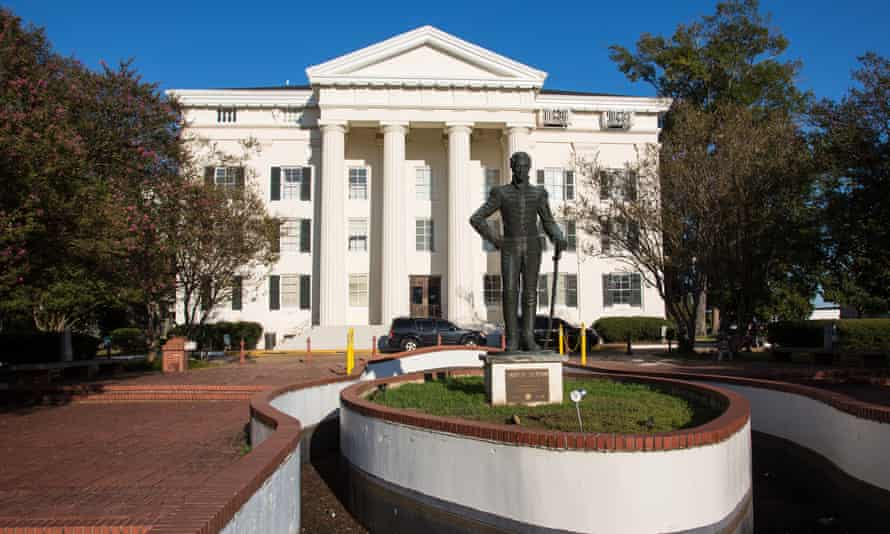 Andrew Jackson Statue in front of Jackson Mississippi's City Hall.