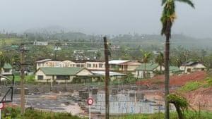 Damage from Cyclone Winston in the town of Ba on Fiji's Viti Levu island.