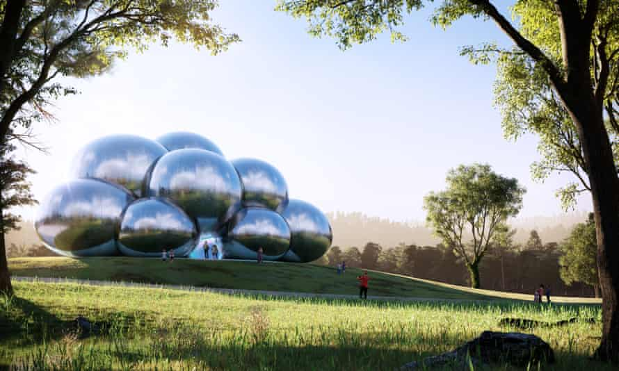 Bounce by Circa invites audiences to take off their shoes and enter – in bubbles – a bouncing circus tent designed by the London-based architects AL_A.