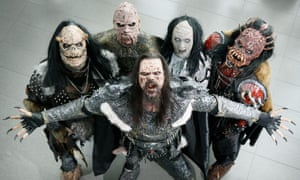 Athens winners ... Lordi, the prosthetic-wearing rock monsters, are providing comfort for devotees.