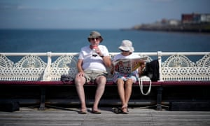 Blackpool sun-seekers: the heatwave has coincided with a spike in fatalities