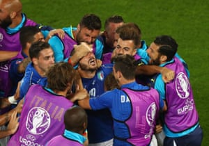 Leonardo Bonucci celebrates after equalising.