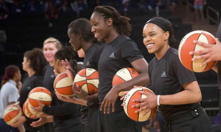 The Liberty have worn the plain black shirts four times, including Wednesday morning against Washington.