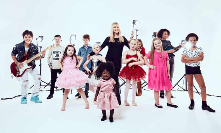 Tiny Tots Talent ... Debi, owner of the Bizzykidz agency, with some of her models.