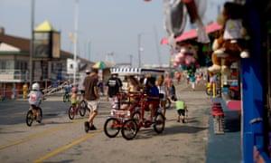 Bikes on the boardwalk Wildwood New Jersey