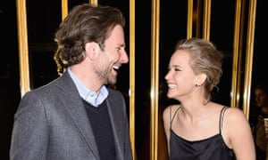 Bradley Cooper and Jennifer Lawrence attend the after party of a screening of Serena in New York.