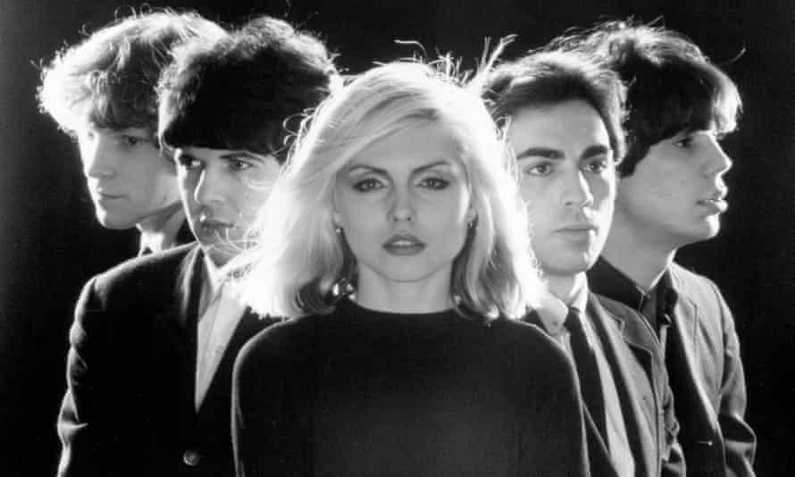 Blondie in 1976: (from left) Gary Valentine, Clem Burke, Harry, Chris Stein and Jimmy Destri.