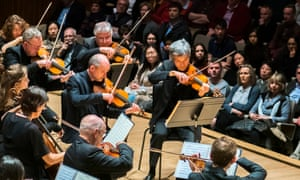 Part of the moment, part of the performance … an audience at the Royal Festival Hall, London, in March 2019 listening to the Orchestra of the Age of Enlightenment.