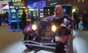 A promotions model at Ice Totally Gaming event at excel.