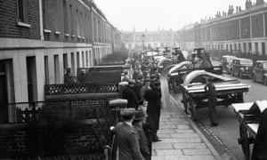 Anderson shelters being delivered in Islington, north London.