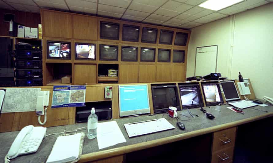 CCTV screens in Gillbridge police station before it closed in 2015.